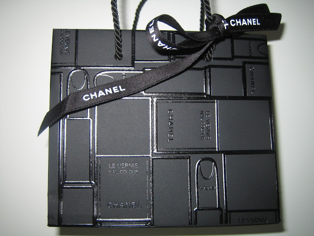 Chanel shopping bag limited edition 2012 black print