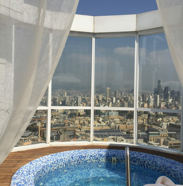 hotel four seasons beirut libanon 5 stars sterne rooftop pool und bar